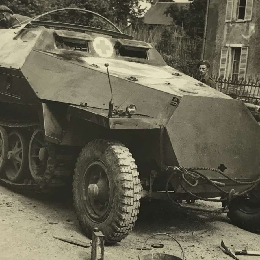 Captured Sd.Kfz .251 Normandy 1944