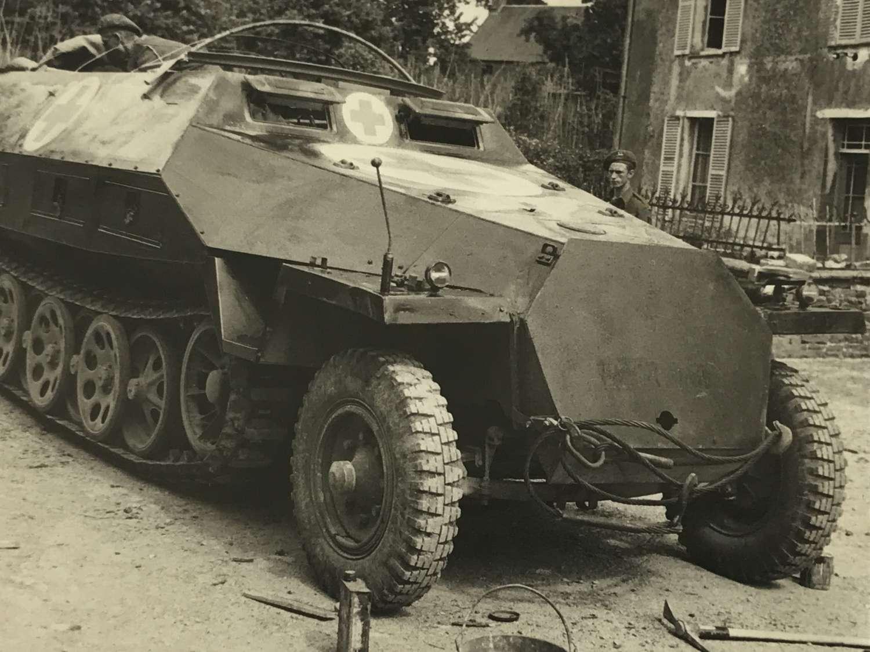 Captured Sd.Kfz .251 Normandy 1944