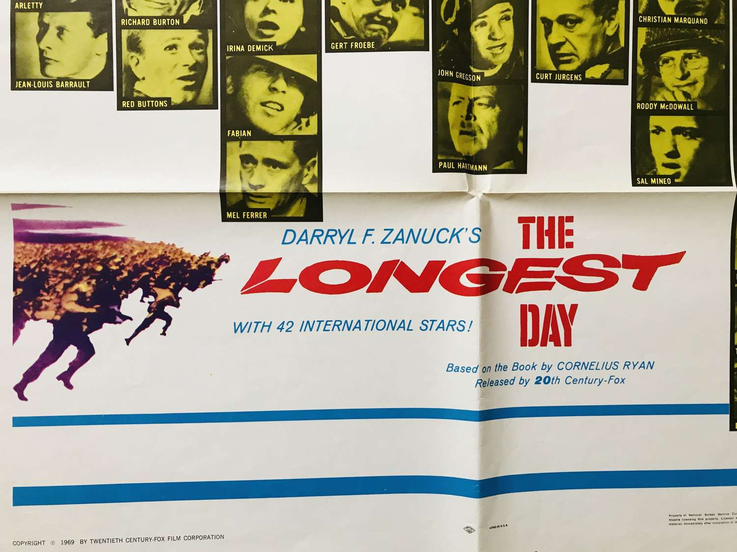 Longest Day film poster dated 1969