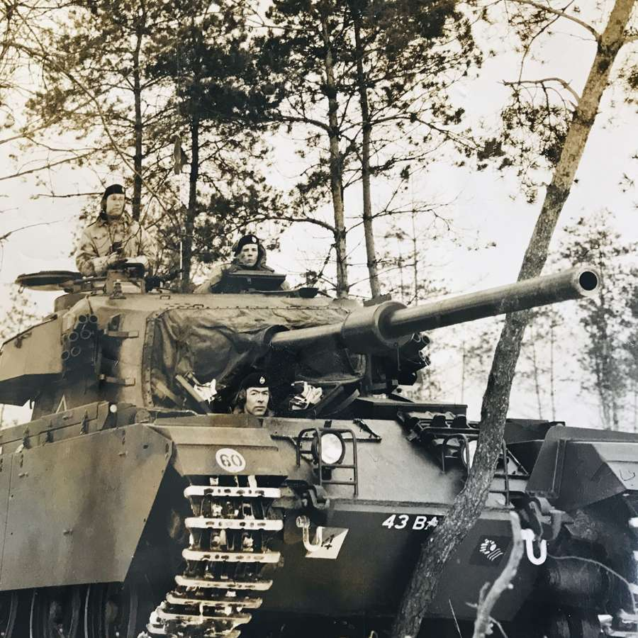 Centurion tank on exercise Germany 1950s BAOR