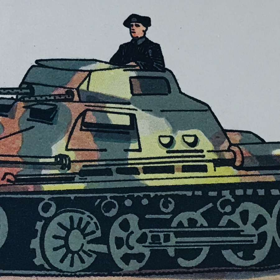 Mark 1 Panzer colour card dating 1937.
