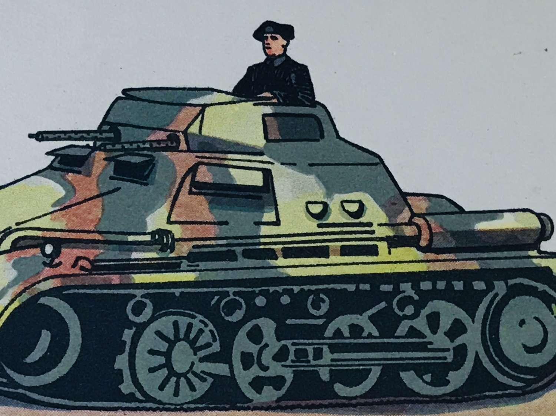 Mark 1 Panzer colour card dating 1937.