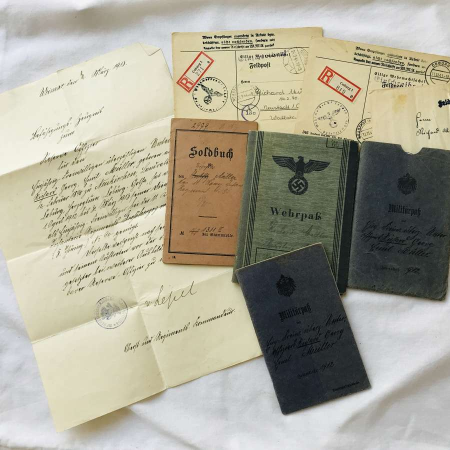 WW1 /2 Soldbuch & Wehrpass   to Richard Muller Inf Regt 94/95