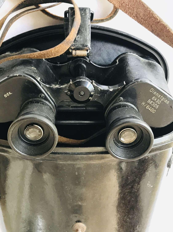 German binoculars 6x30 maker ddx with case.