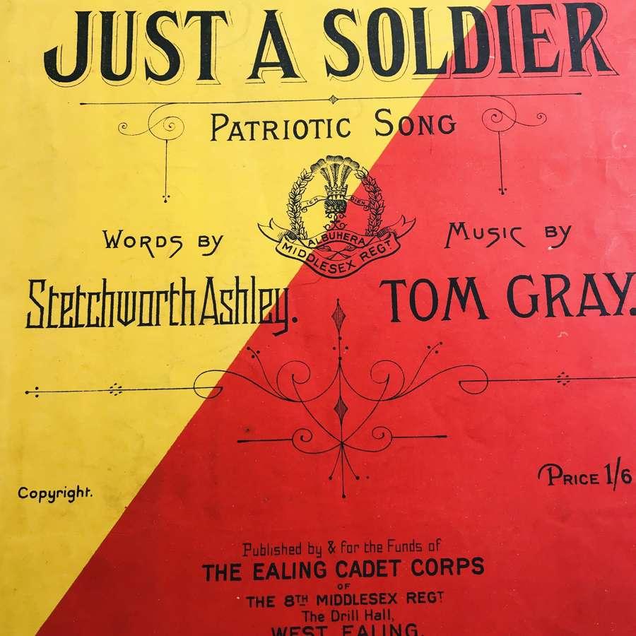 WW1 Middlesex Regiment Music sheet
