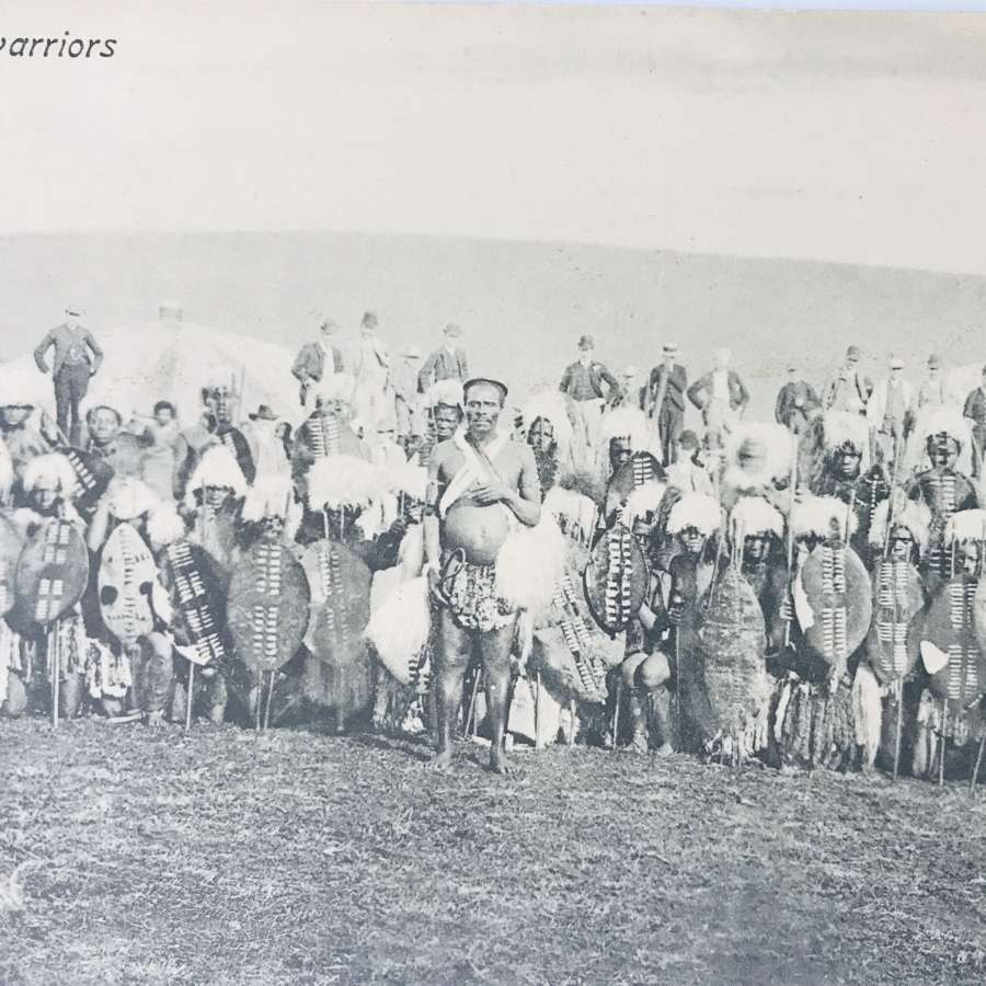 Early 20th century Zulu postcard
