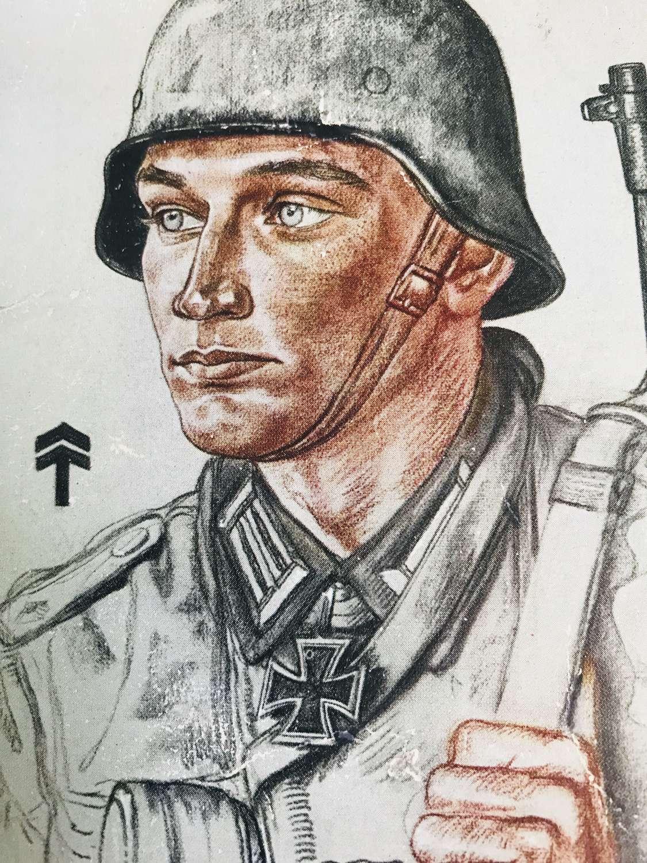 Oberleunaut Alfred Germer  Willrich card