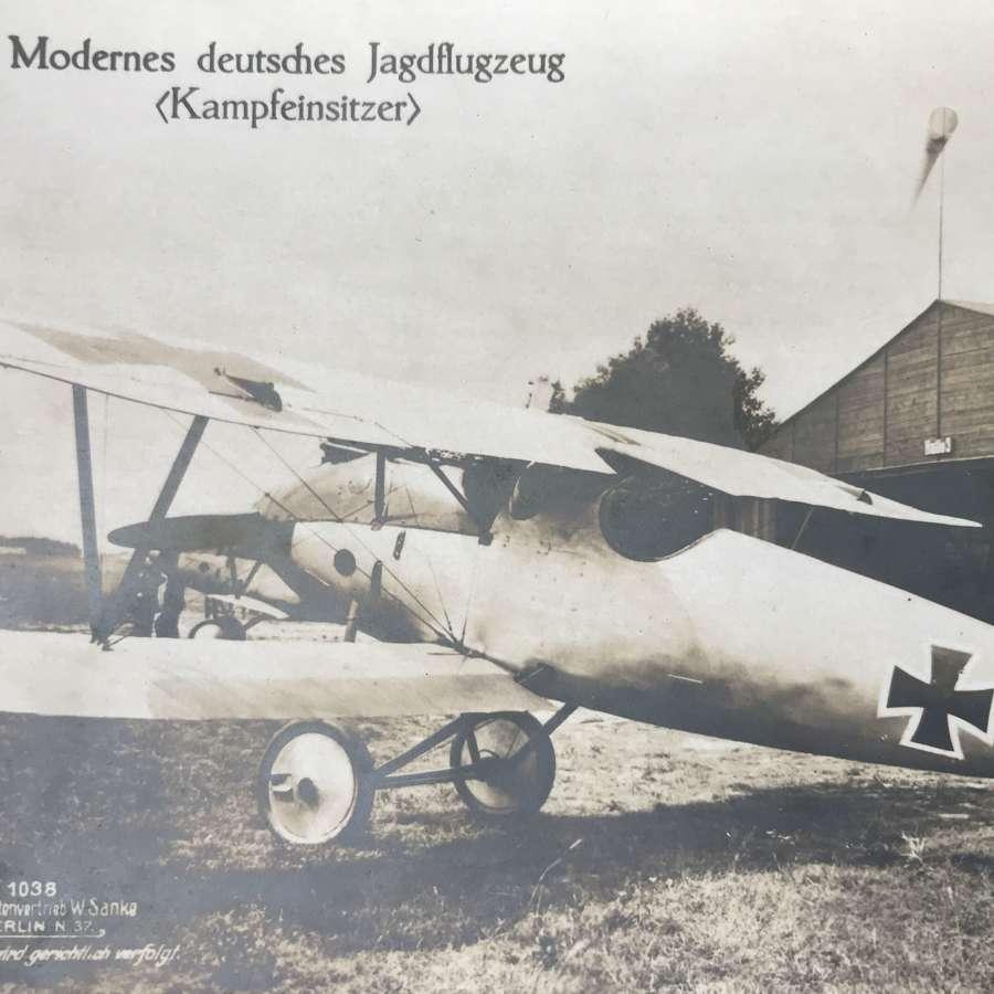Albatross fighter Sanke card