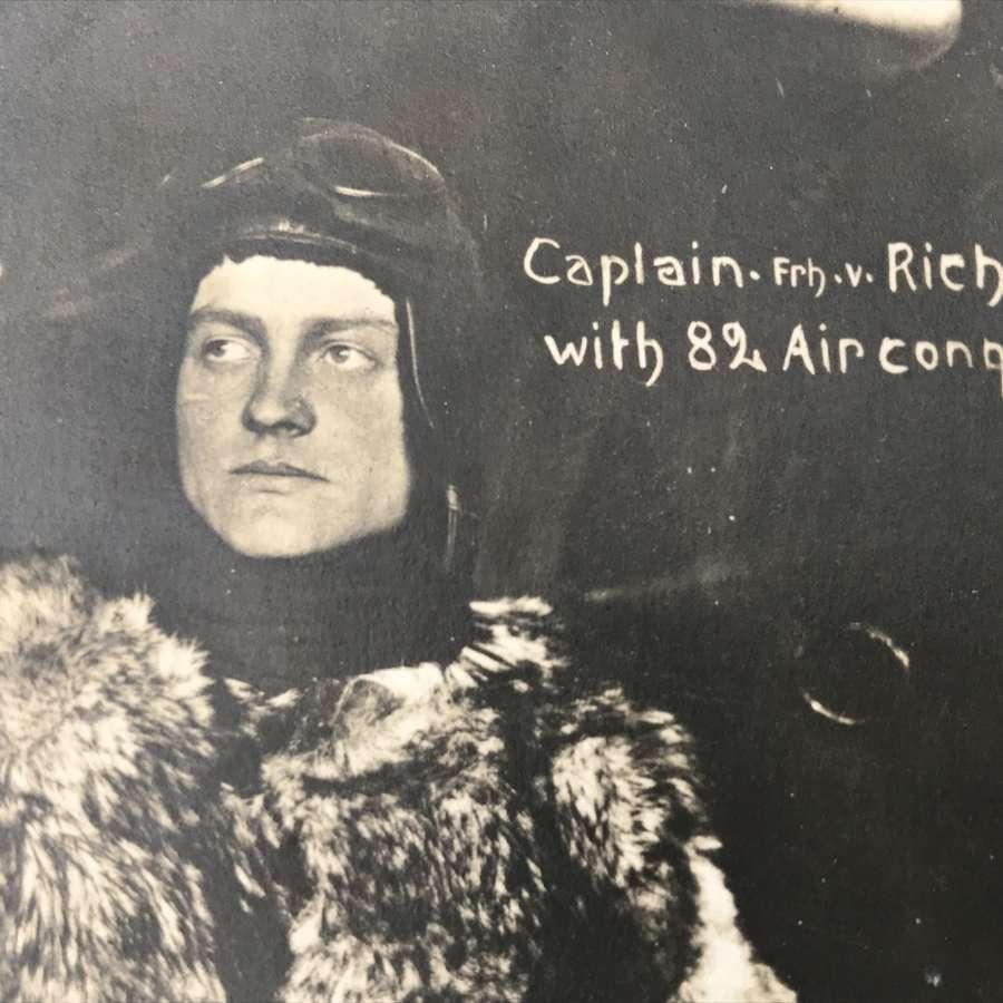 Rare Manfred Von Richthofen postcard