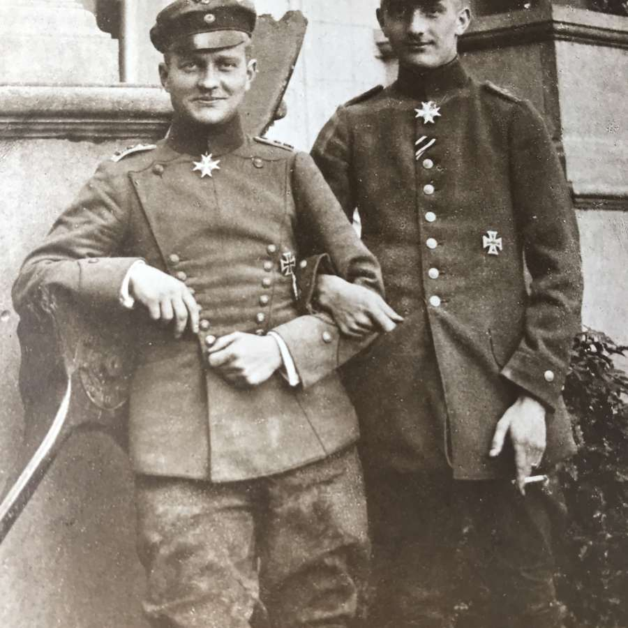 A Portrait postcard of the von Richthofen Brothers