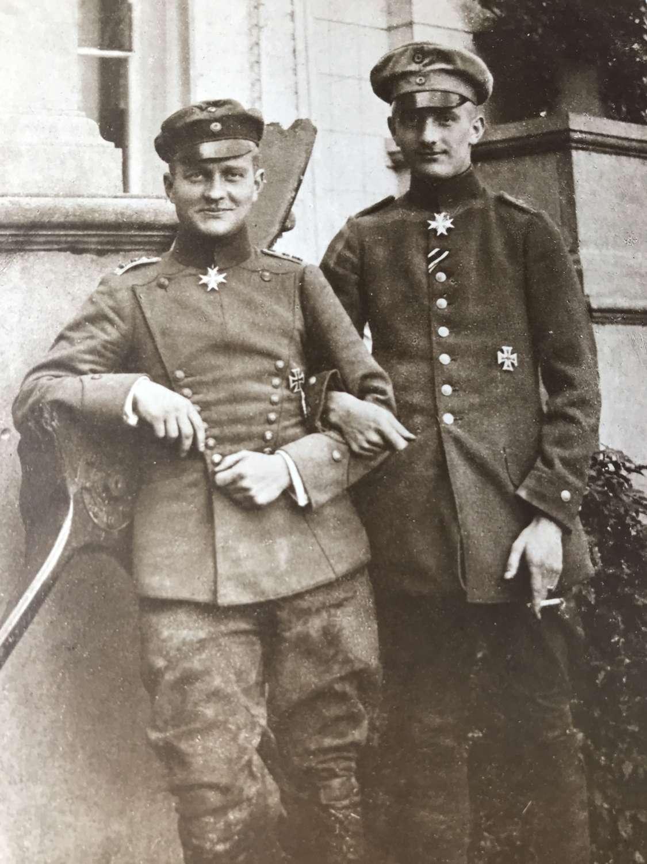 A Portrait postcard of the von Richthofen Brothers