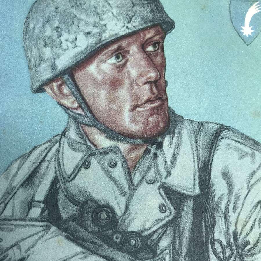 Fallschirmjager combat engineer Willrich card