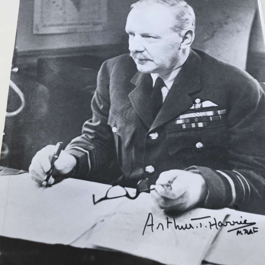 Signed photograph of Arthur Bomber Harris