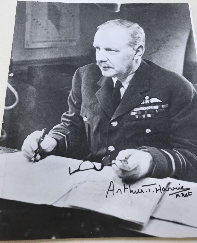 Signed photograph of Arthur Bomber Harris