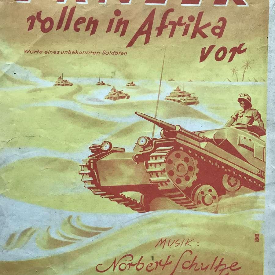 Panzer rollen  In afrika vor  sheet music