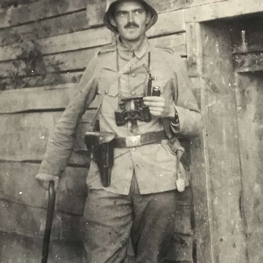 Postcard of German officer on the Western front