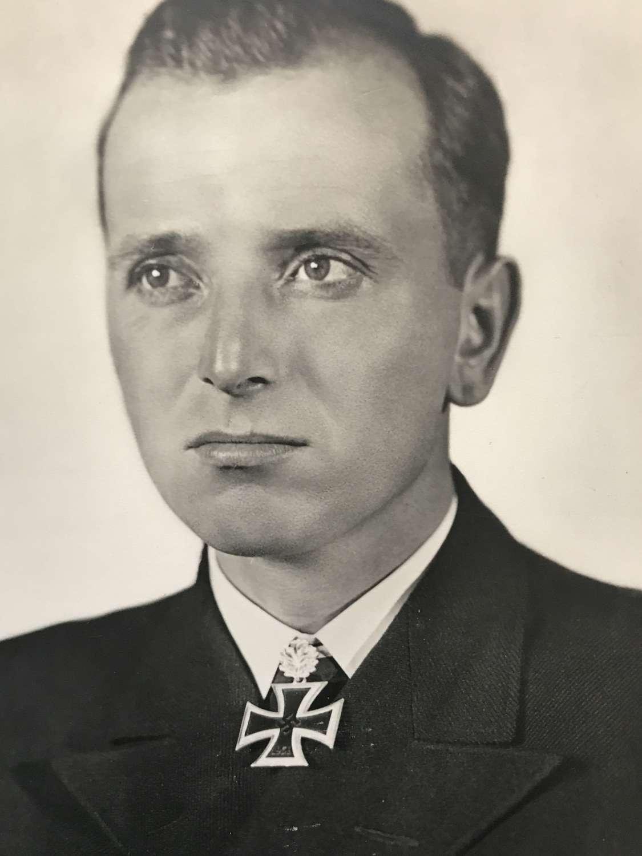 Postcard of U boat ace Otto Kretschmer