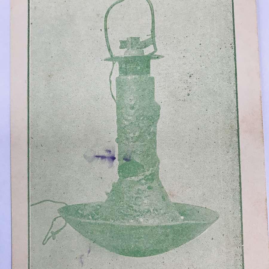 Zepplin incendiary bomb postcard