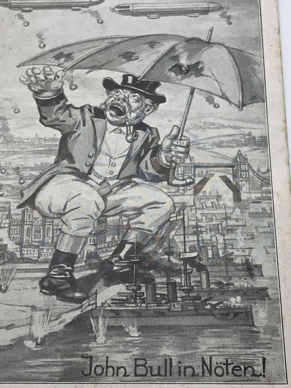 John Bull German propaganda postcard