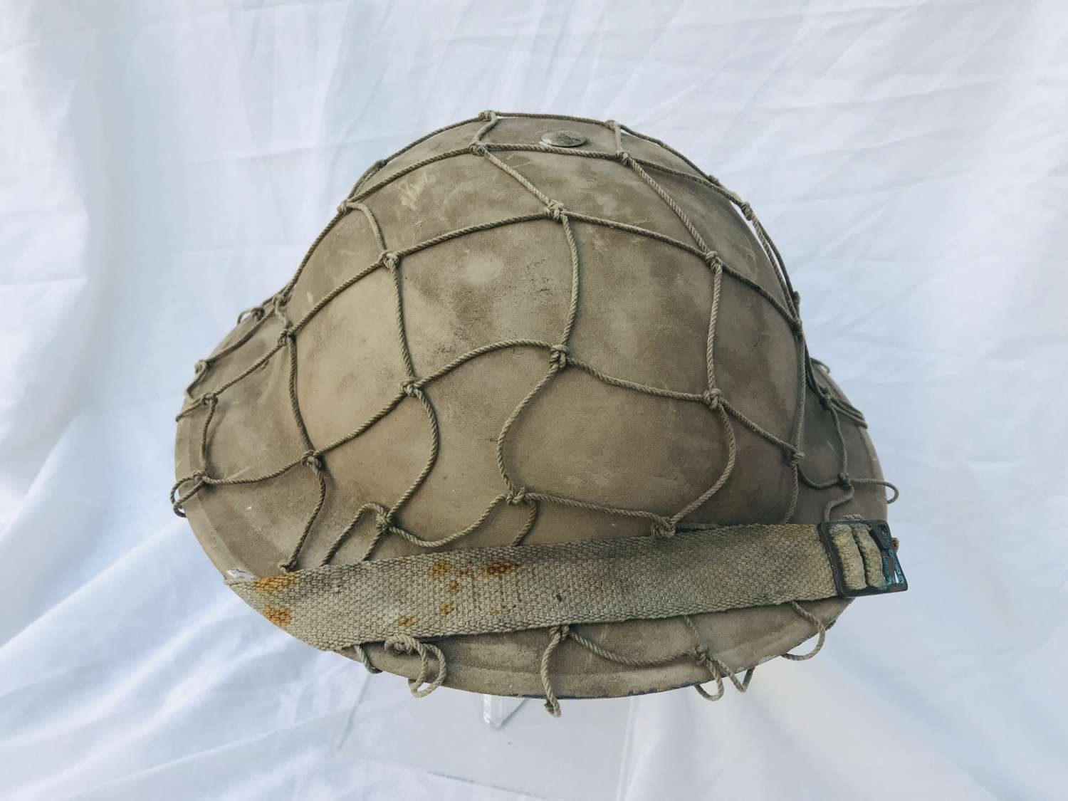 1939 Dated British helmet refurbished for re-enactment