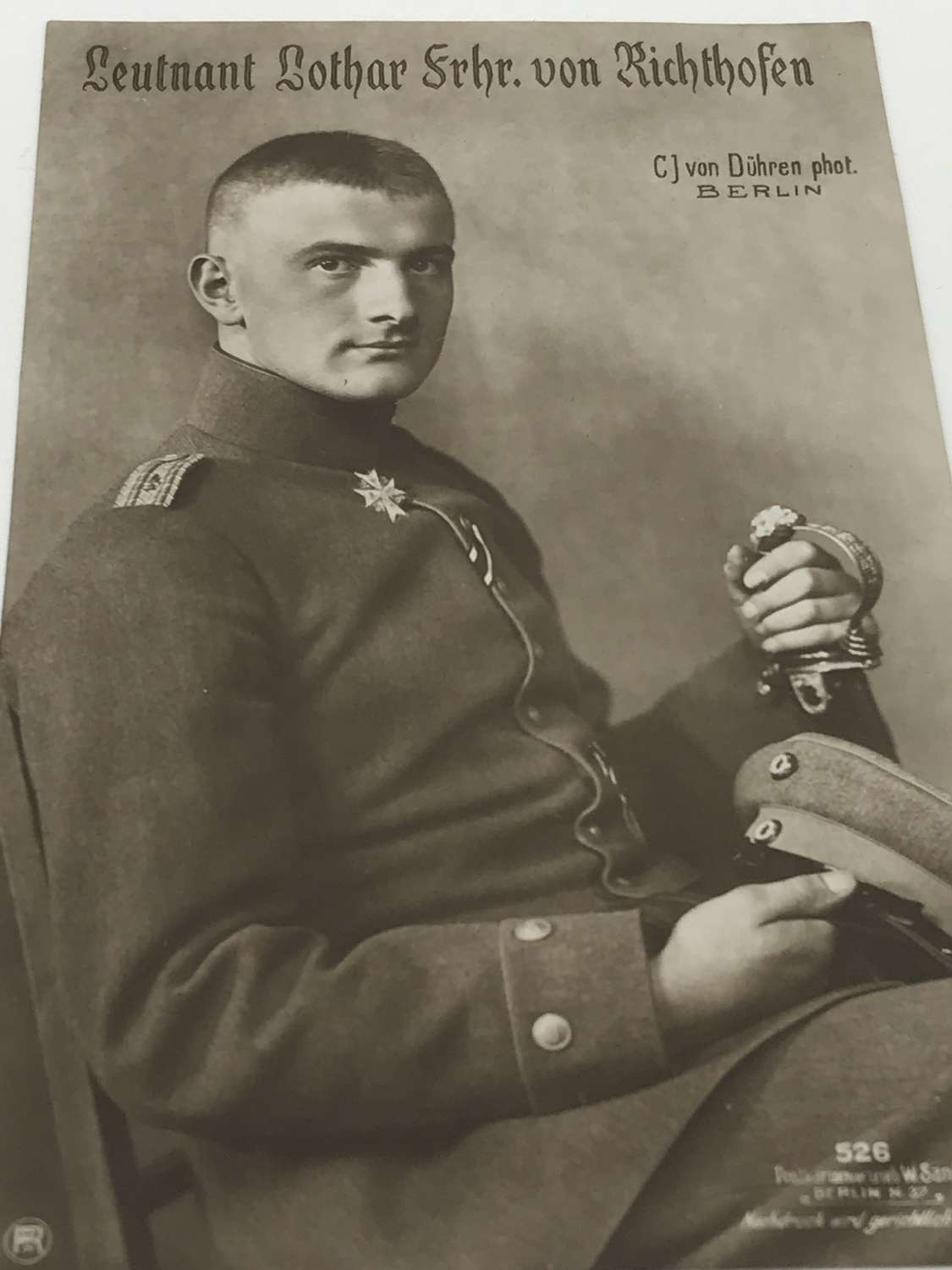 Lother Von Richthofen Sanke card number 526