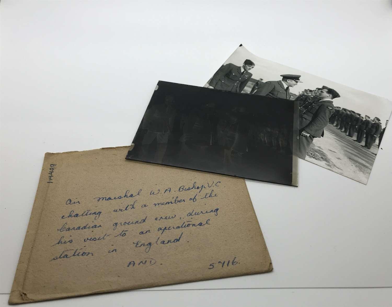 Glass slide negative of Billy Bishop VC