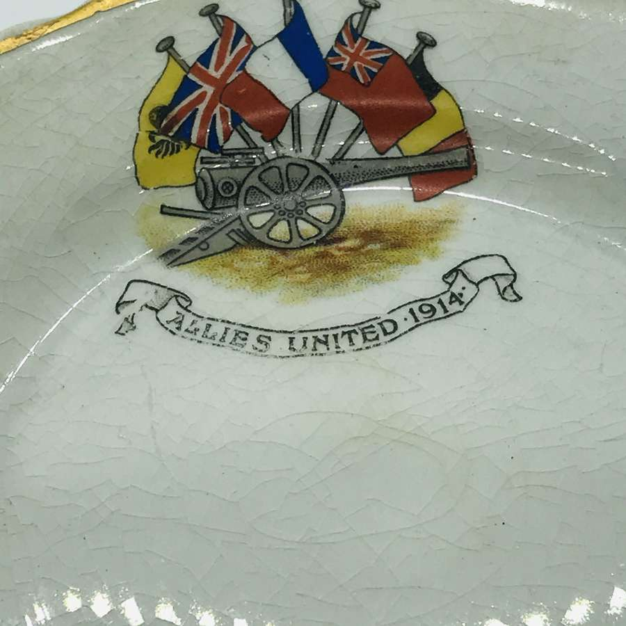 A china plate titled  Allies United 1914