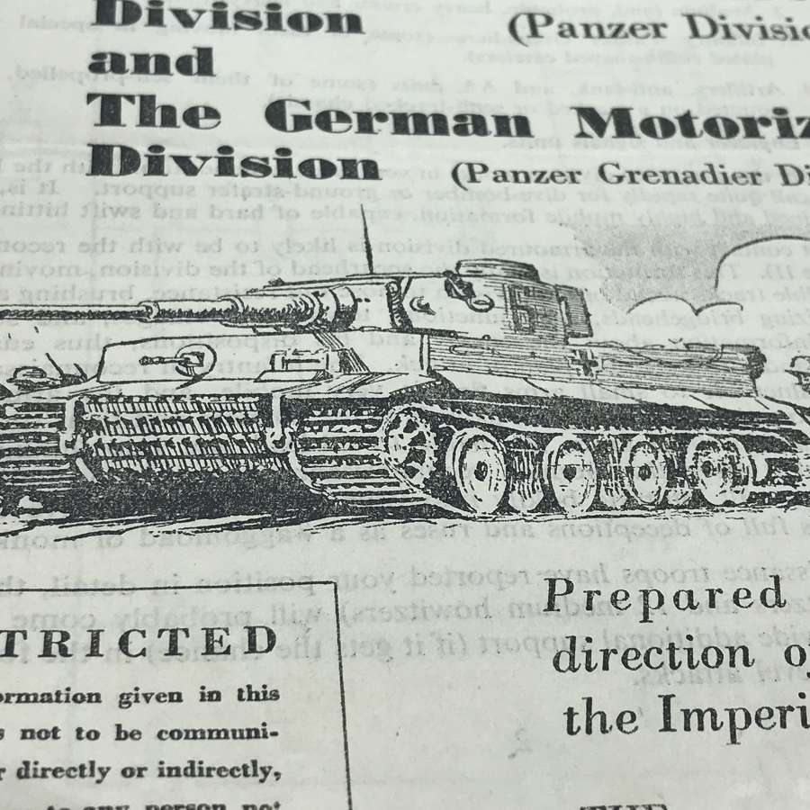 Popular guide to the German army dated January 1944