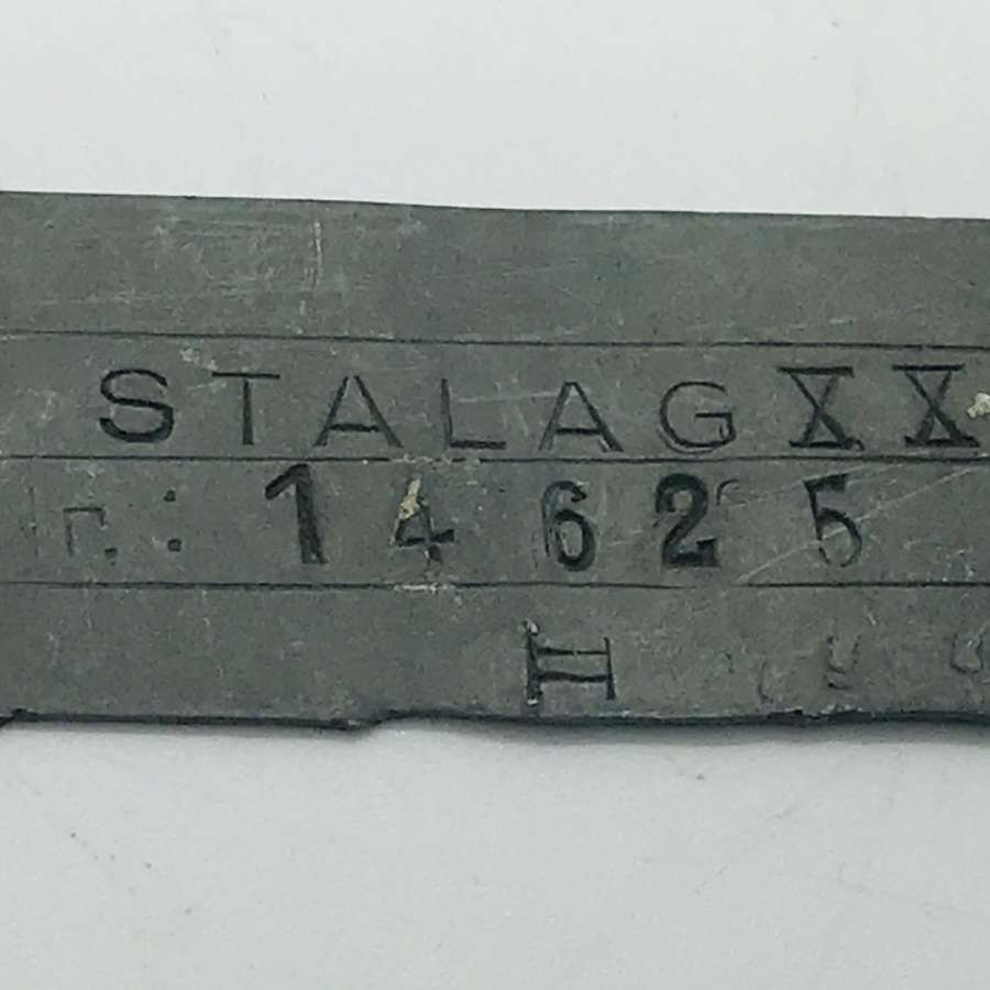 Prisoner of war dog tag stalag XX A