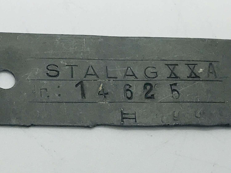 Prisoner of war dog tag stalag XX A