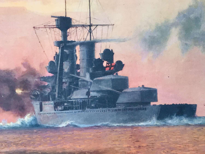 Cruiser ( Koln ) Cologne shells Soviet positions