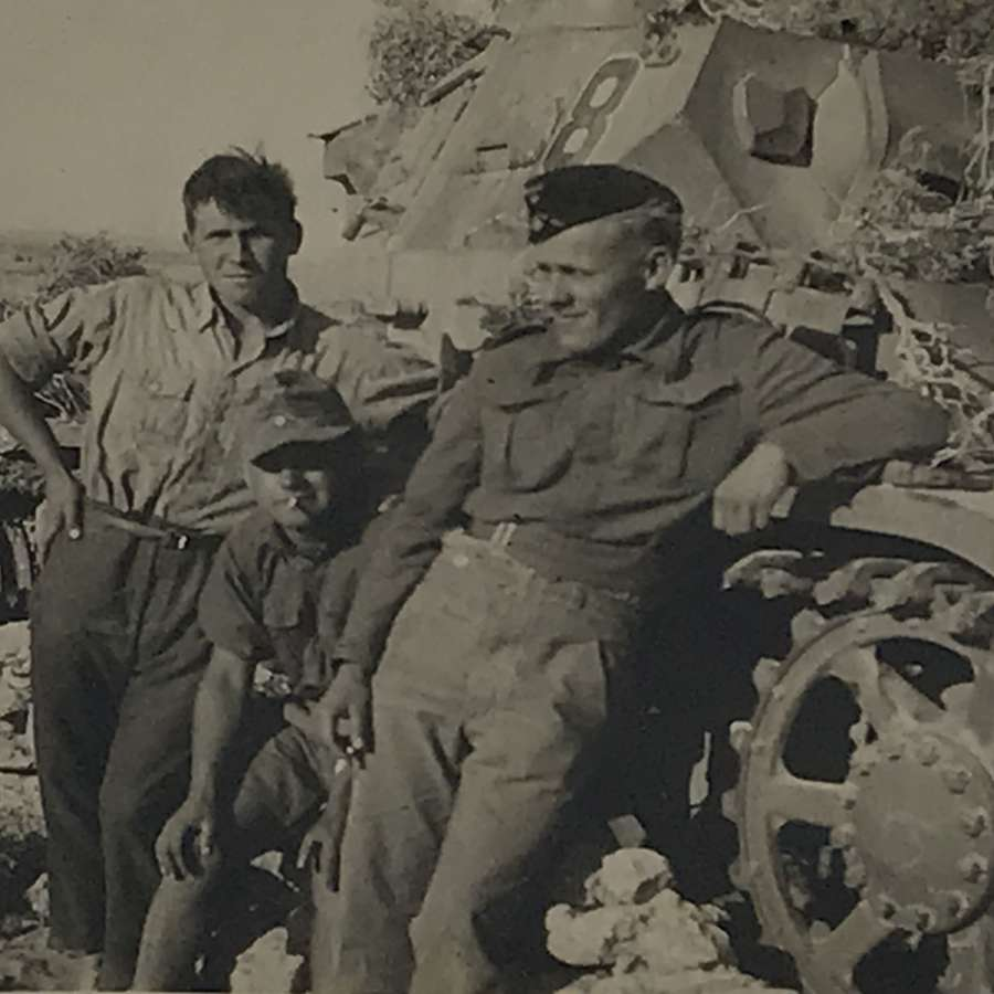 Panzer MK 3/4 crew photograph