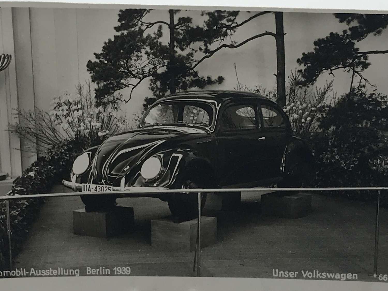 VW KDF Beetle postcard dated 1939