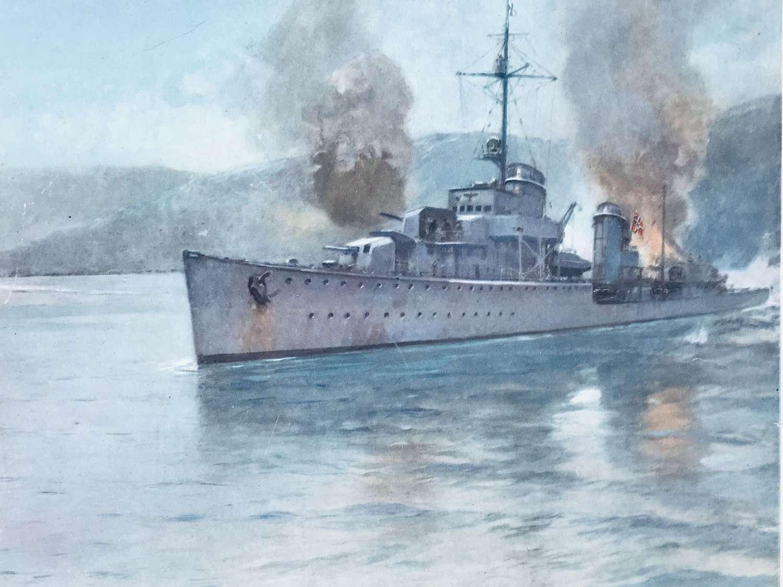 German destroyer( Georg Thiele ) Navik 1940