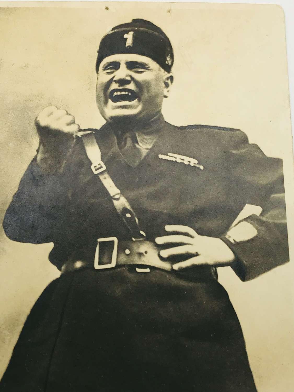 Mussolini postcard