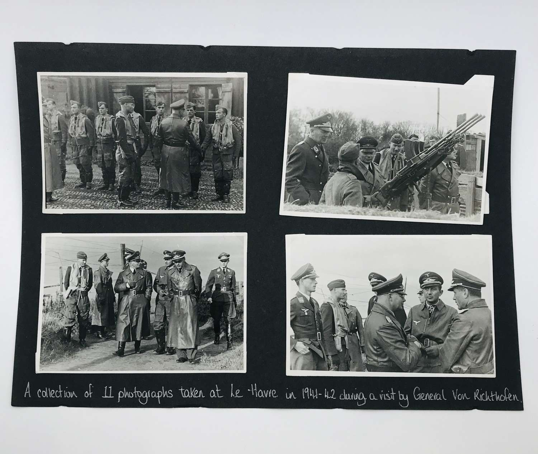 11 photos of Von Richthofen visit to JG2