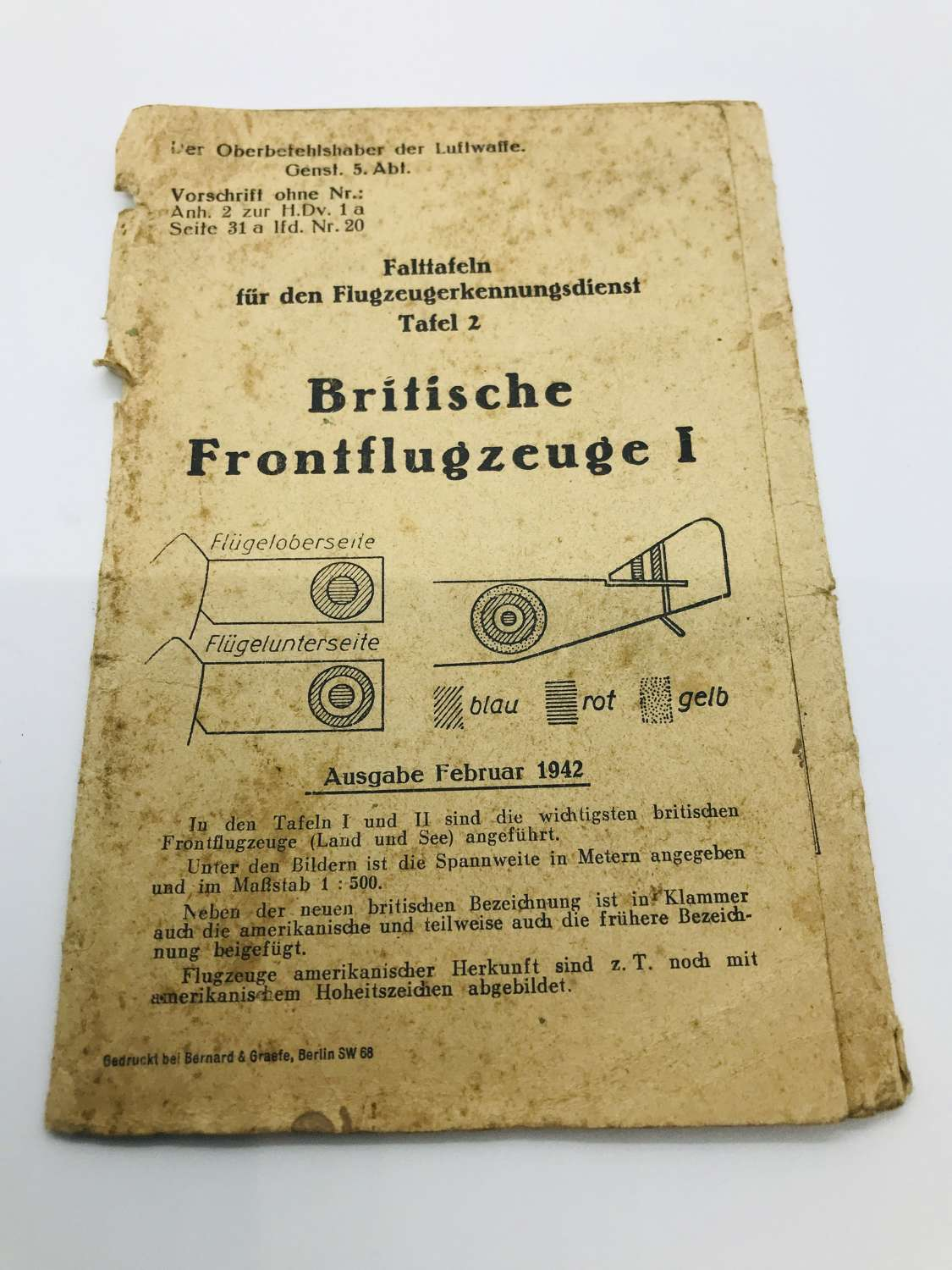 German Aircraft recognition book