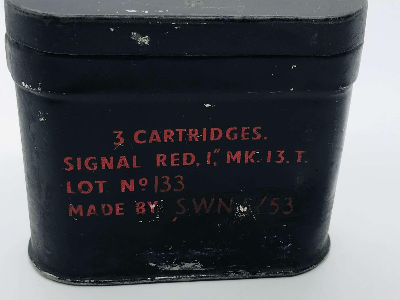 RAF Signal flare box