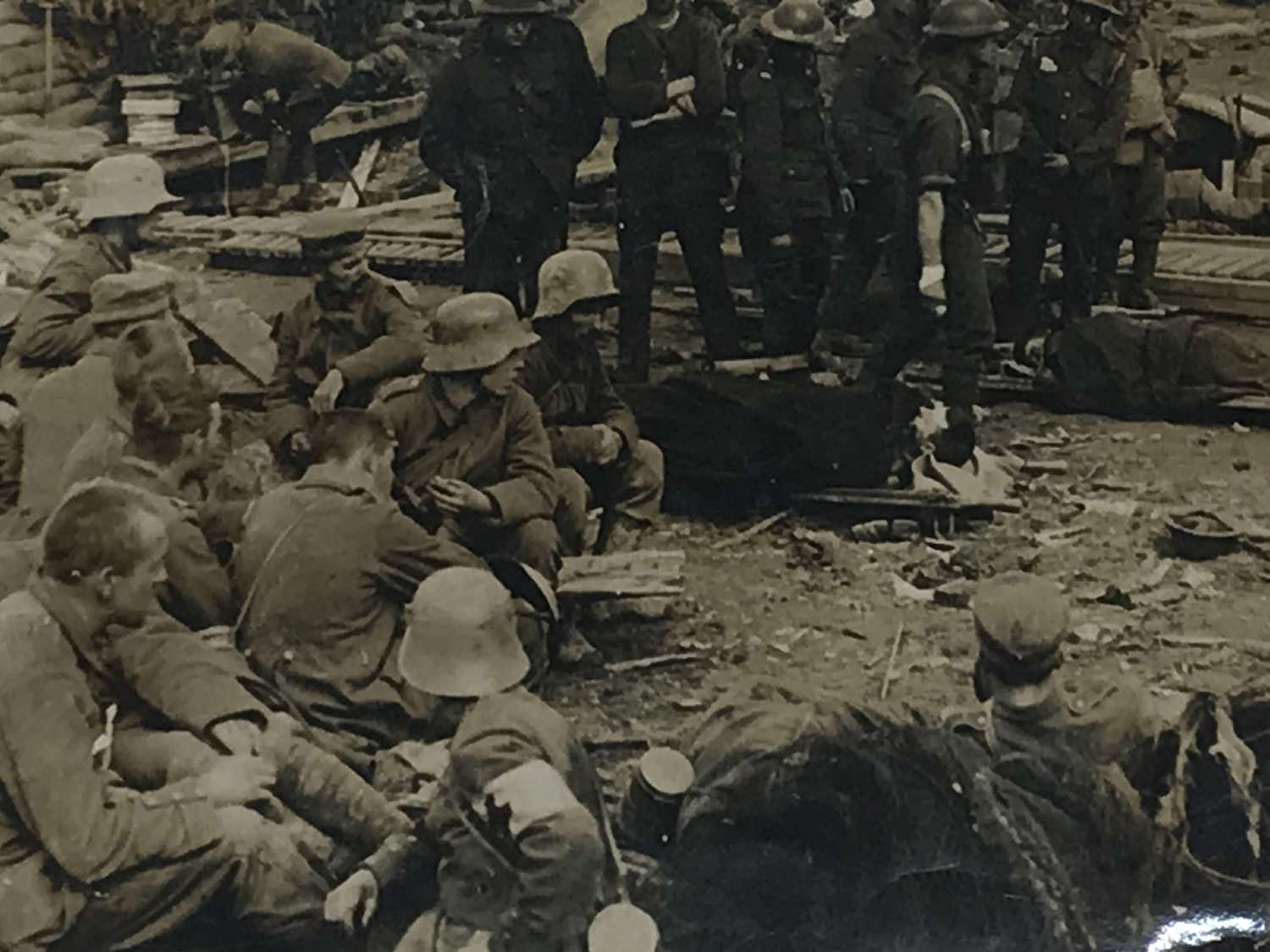 Press photograph of Menin road casualty clearing centre