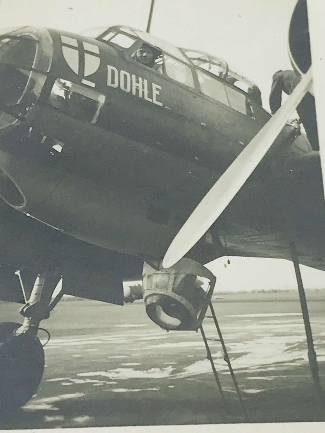 Photo of JU88 with  Squadron insignia