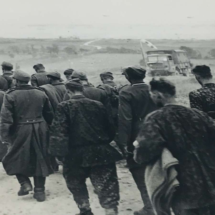 German prisoners at D Day Beach