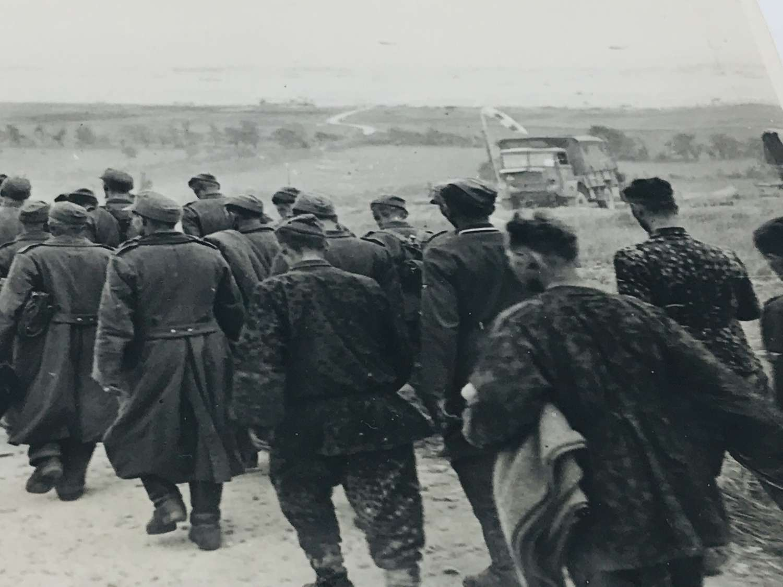 German prisoners at D Day Beach