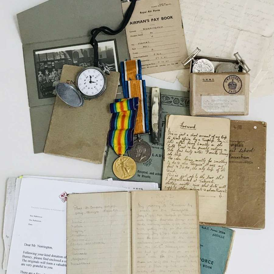 Father and son medal grouping with a Iraq  diary