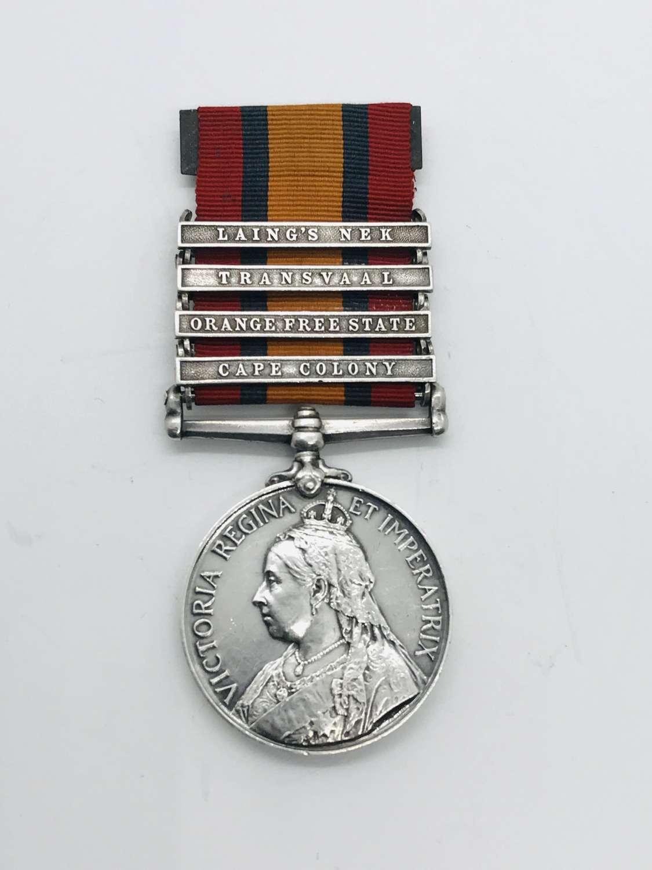 QSA medal Lancashire Fusiliers