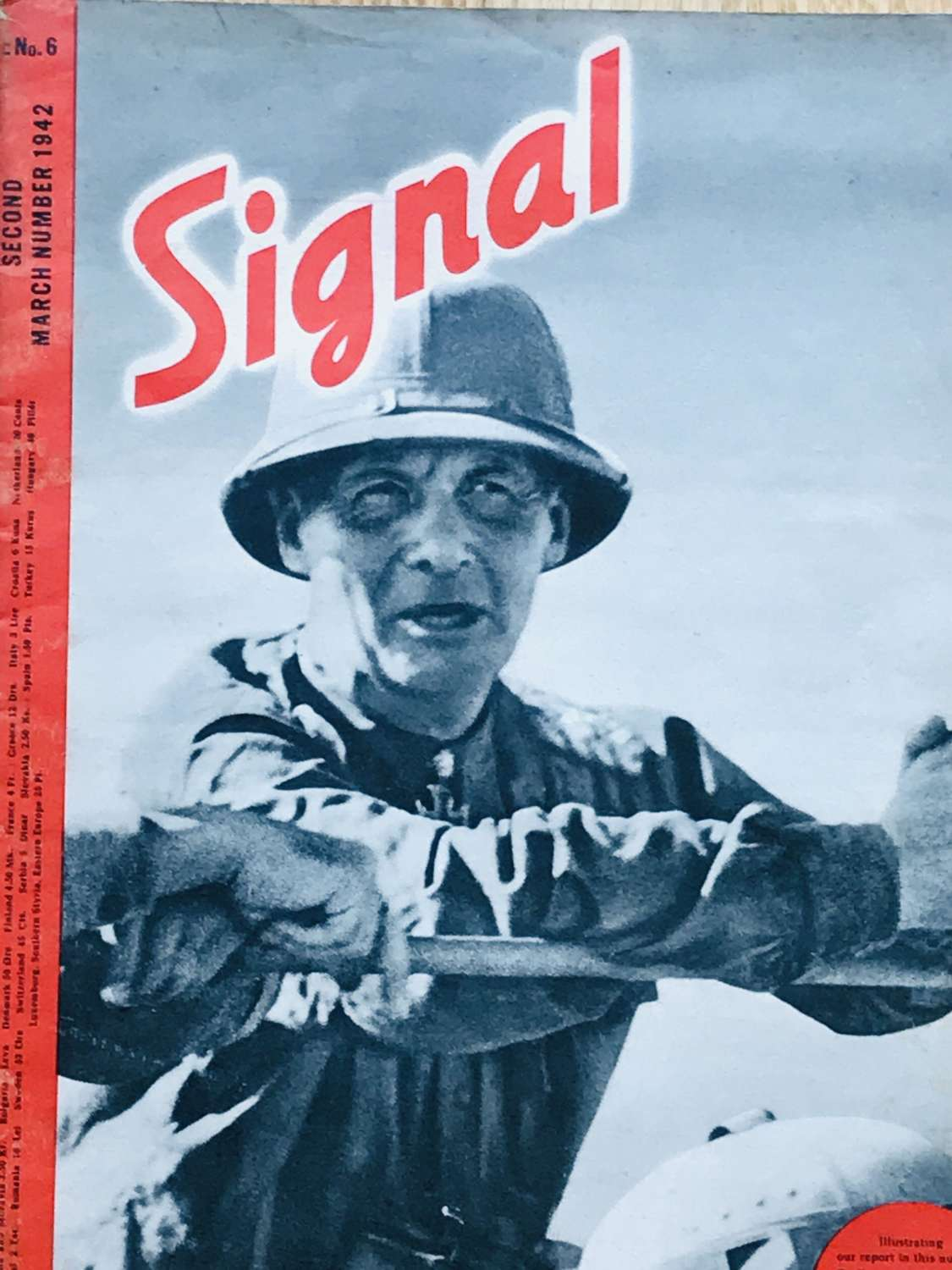 A copy of the signal magazine in English