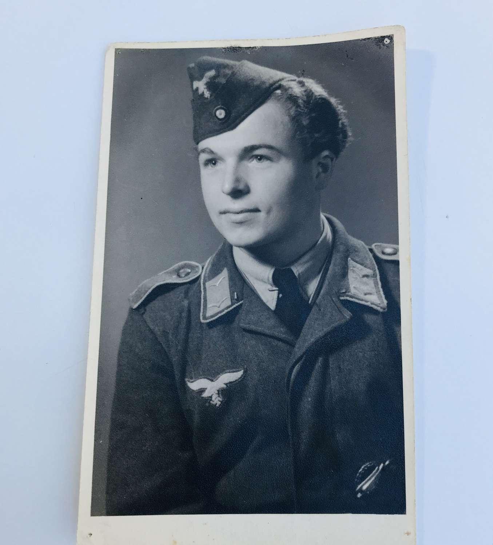 Portrait image of Fallschirmjager Wearing a forage  cap