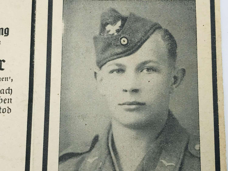 Fallschirmjager Memorial card