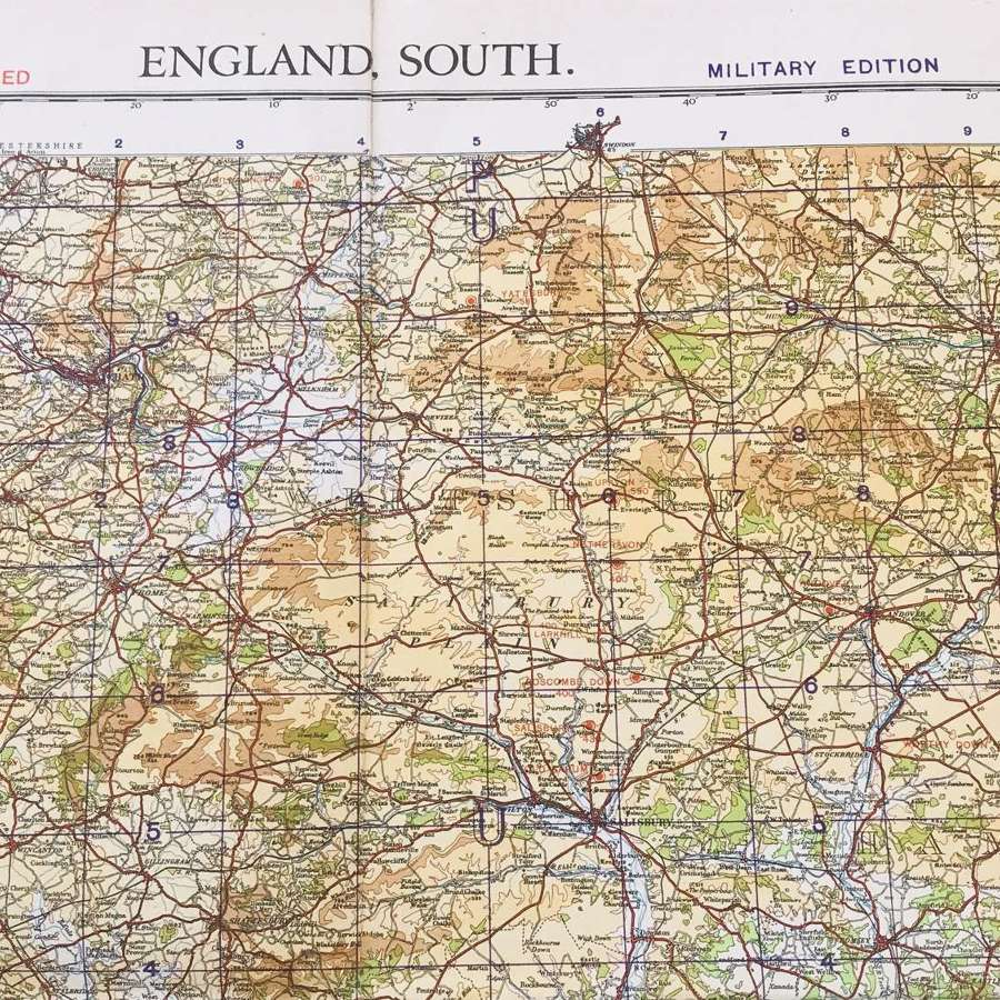 Map of south of England dated 1940